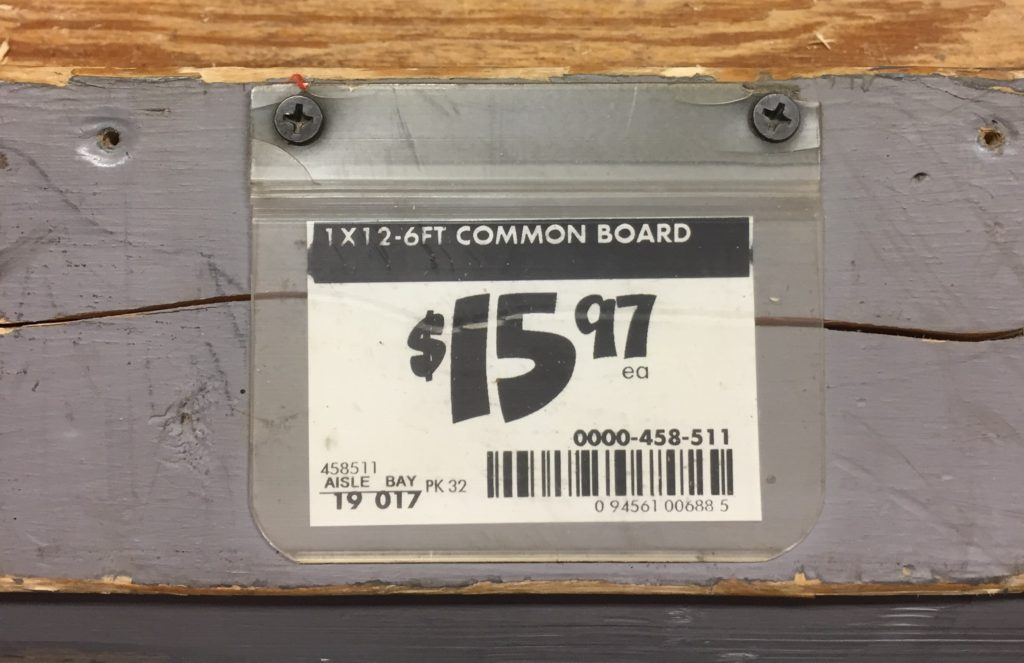 $15.97 price for piece of wood