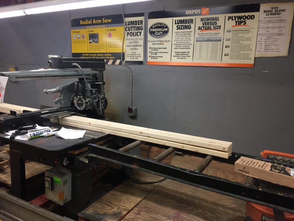 Home Depot saw