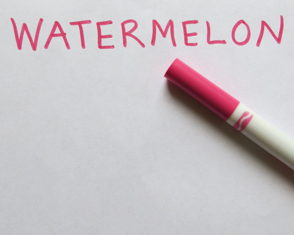 Watermelon title, marker and paper