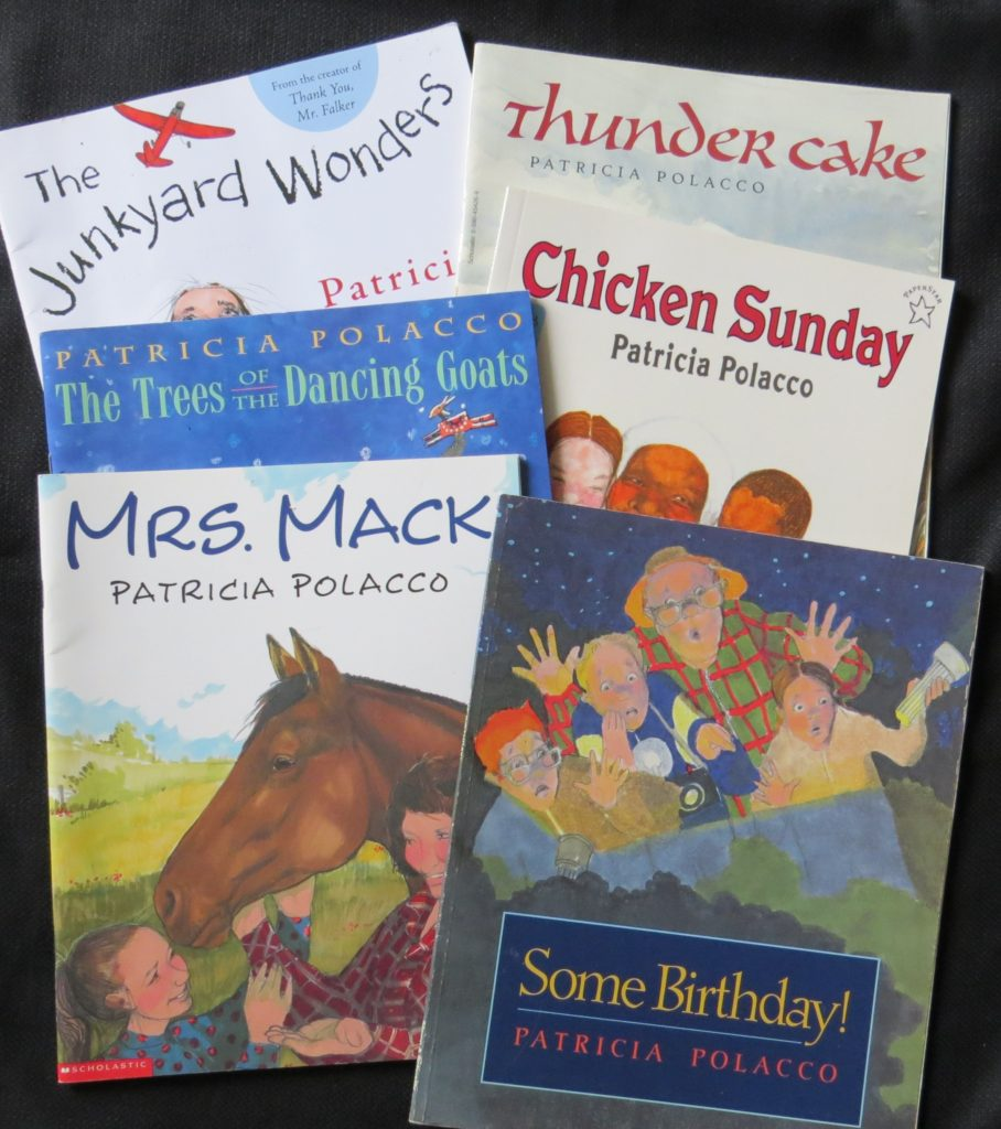 A stack of Patricia Polacco's books