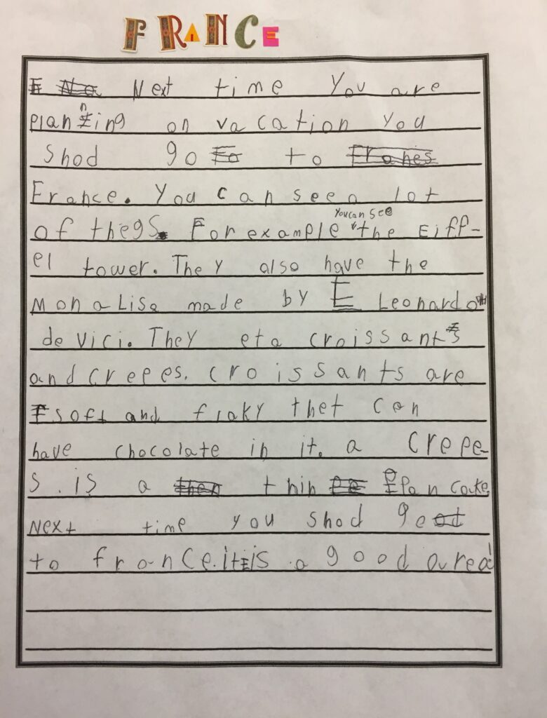 Persuasive Writing--You've got to visit France!